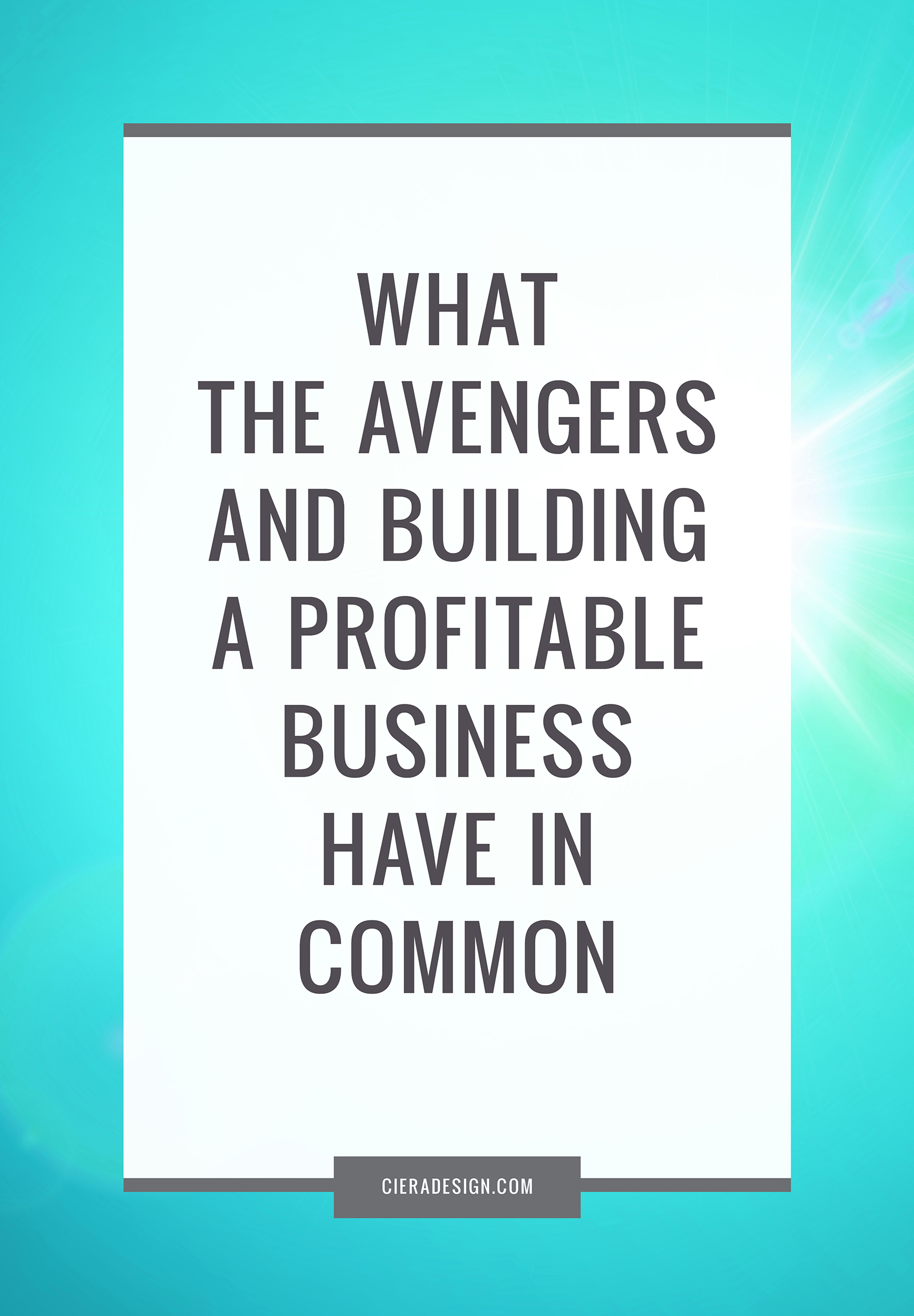 Learn what The Avengers and building a profitable business have in common