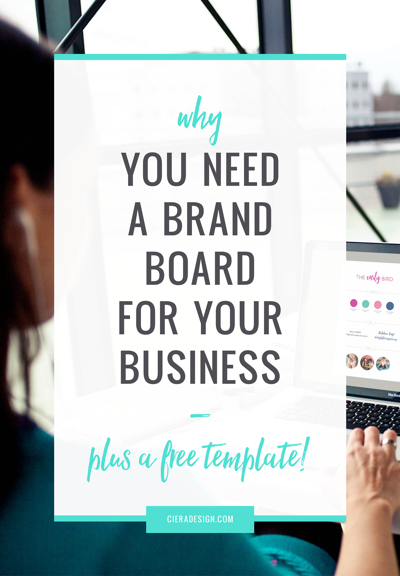 Being cohesive and consistent across all platforms is key to building trust with your customers.⁣  ✨ Enter the Brand Board ✨⁣  A brand board is a simple document to pull together all of your brand identity pieces in one neat place to make sure that everything you put out into the world for your business is consistent.⁣  ✨ BONUS: It's FREE! ✨⁣  Click through to download both Canva and Photoshop versions!⁣