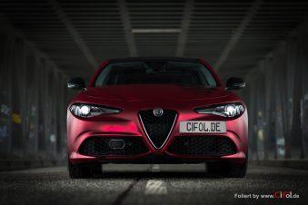 Alfa Romeo Giulia -Cherry Red - CiFol-Werbetechnik 11