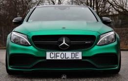 C63 AMG - British racing green - CiFol-Werbetechnik (04)