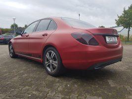 Mercedes C Klasse - Vampire Red - CiFol Werbetechnik (1)