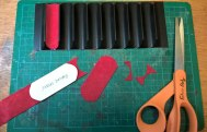 Cutting the pen slot liners