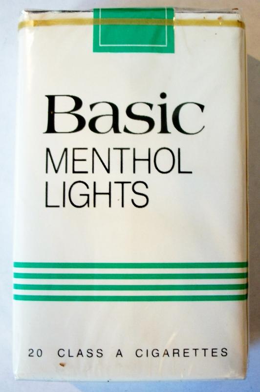 Basic Menthol Lights King Size - vintage American Cigarette Pack