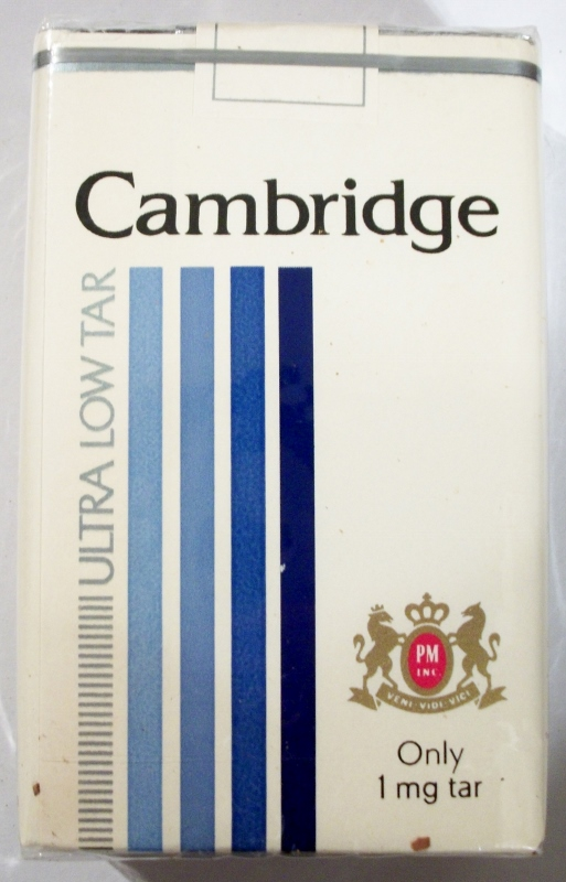 Cambridge Ultra Low Tar, King Size - vintage American Cigarette Pack
