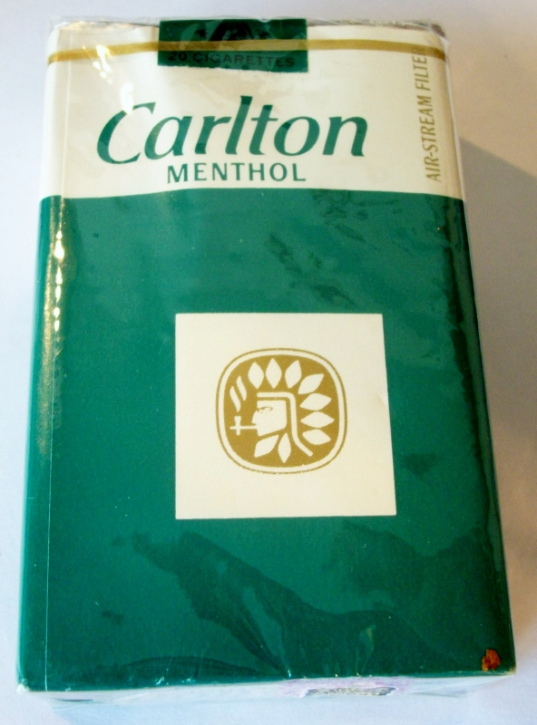 Carlton Menthol Air-Stream Filter 85mm - vintage American Cigarette Pack