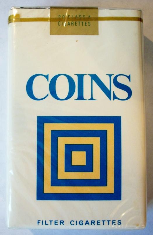 Coins Filter Kings - vintage B&W Trademark Cigarette Pack