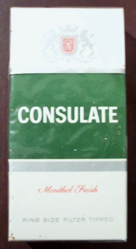 Consulate Menthol Fresh, King Size - vintage British Cigarette Pack