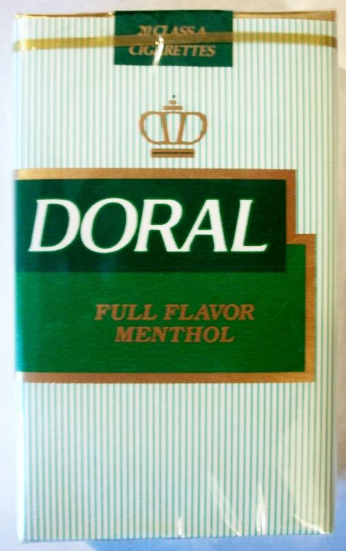 Doral Full Flavor Menthol King Size - vintage American Cigarette Pack