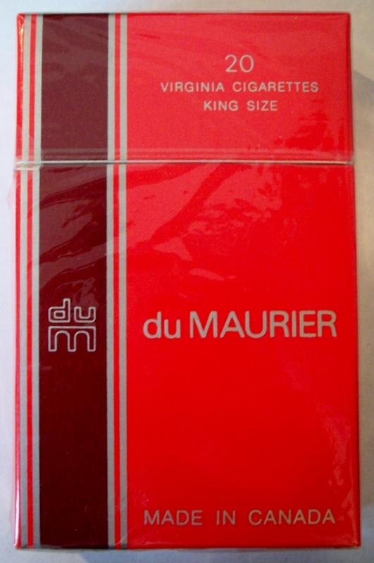 du Maurier, King Size - vintage Canadian Cigarette Pack