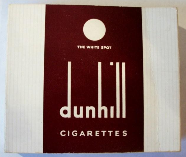 Dunhill The White Spot - vintage British Cigarette Pack