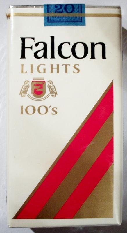 Falcon Lights 100's - vintage American Cigarette Pack