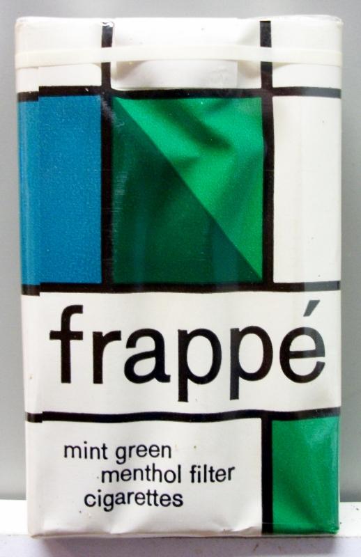 Frappé Mint Green Menthol Filter, King Size - vintage American Cigarette Pack
