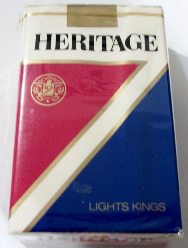 Heritage Lights Kings - vintage American Cigarette Pack