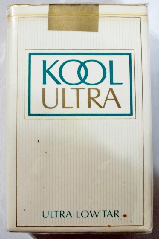 Kool Ultra Low Tar, King Size - vintage American Cigarette Pack