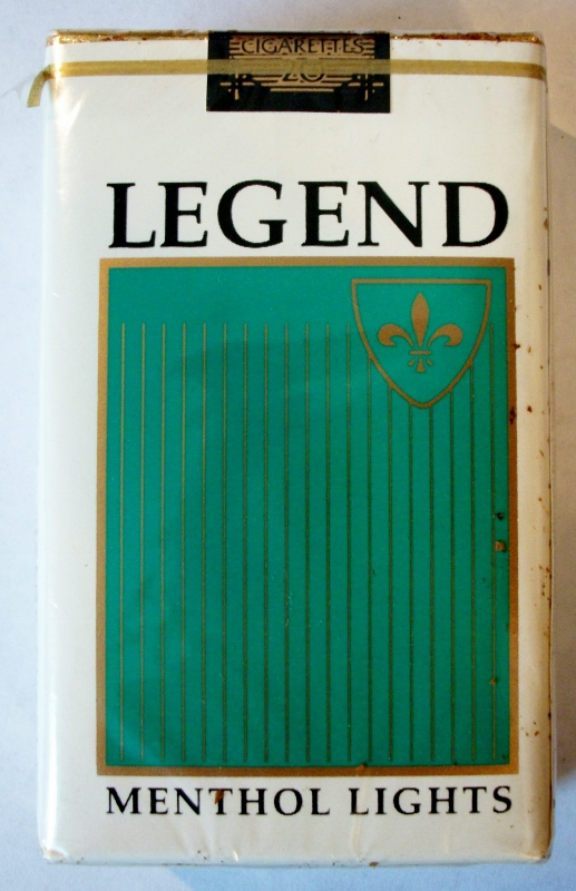 Legend Menthol Lights, King Size - vintage American Cigarette Pack