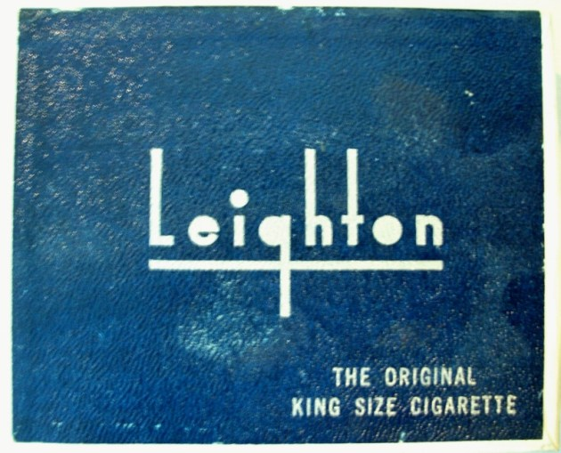 Leighton 1940, The Original King Size Cigarette - vintage American Cigarette Pack