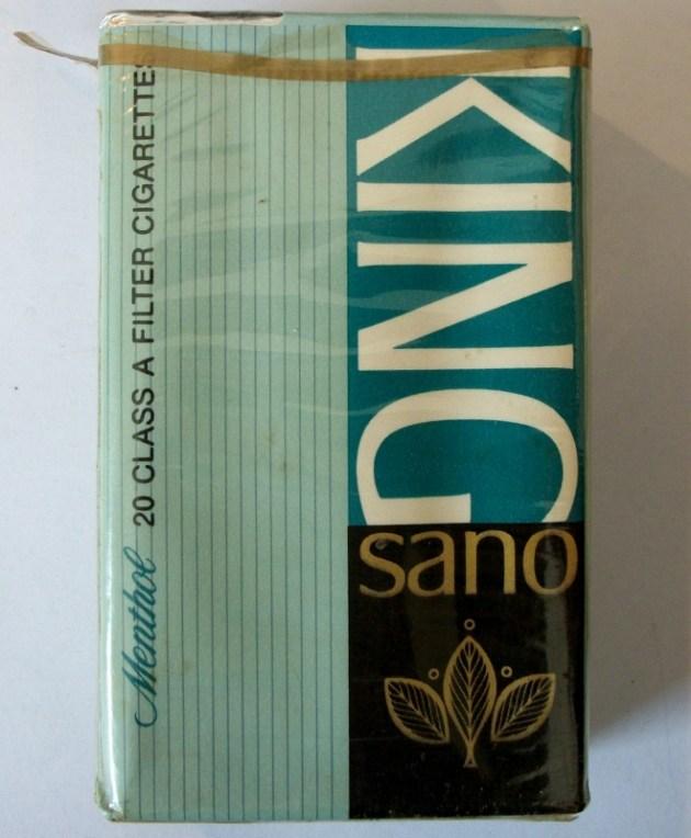 King Sano Menthol (1966-1970) - vintage American Cigarette Pack