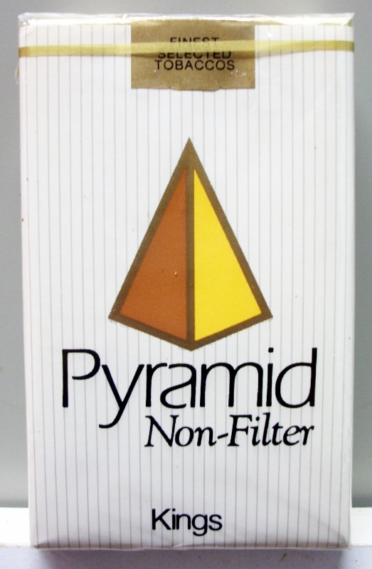 Pyramid Non-Filter Kings - vintage American Cigarette Pack