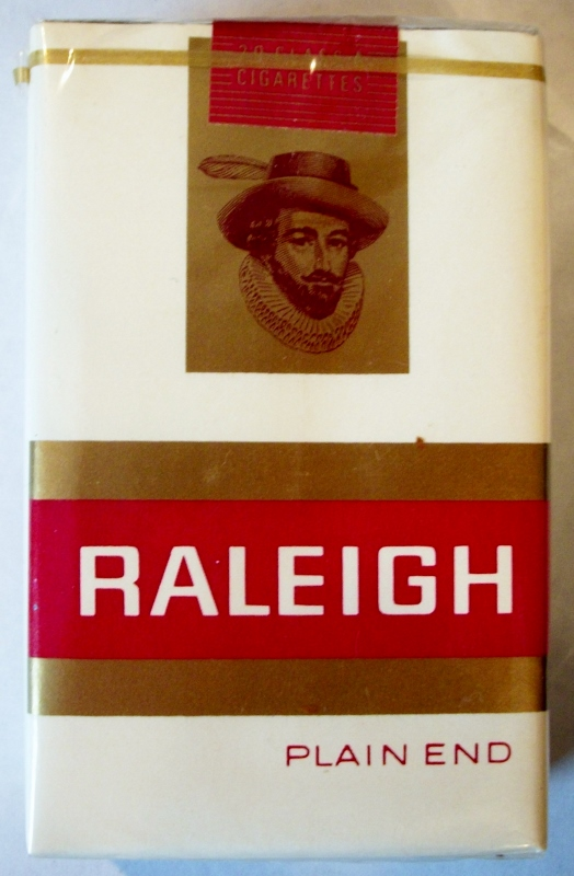 Raleigh Plain End King Size with Coupon - vintage American Cigarette Pack