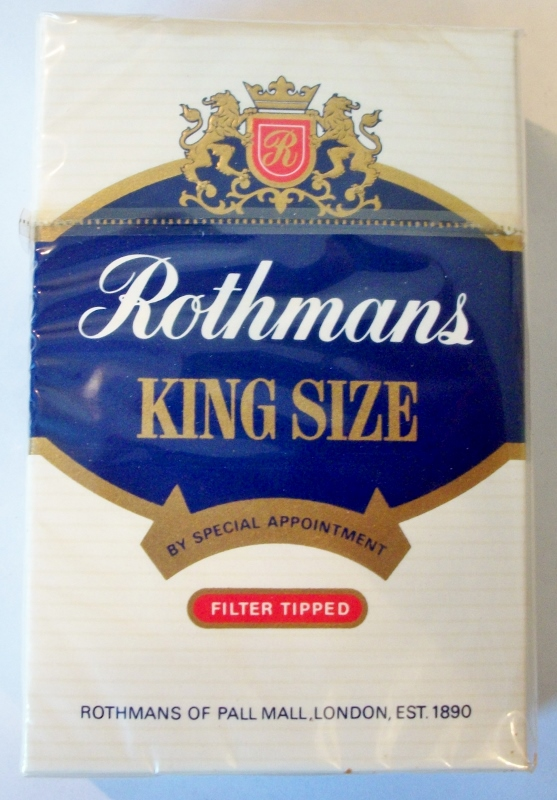 Rothmans King Size, Filter Tipped - vintage Greek, British Cigarette Pack
