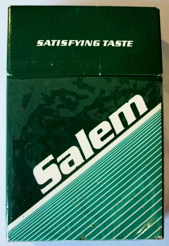 Salem Box King Size, Satisfying Taste - vintage American Cigarette Pack