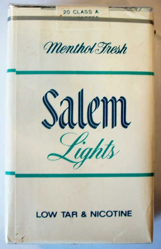 Salem Lights Menthol Fresh, King Size - vintage American Cigarette Pack