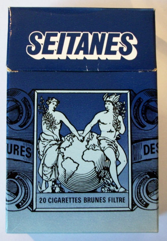 Seitanes Brunes Filtre, King Size - vintage French Exportation Cigarette Pack