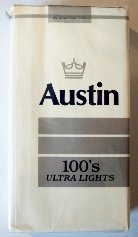Austin Ultra Lights 100's - vintage American Cigarette Pack