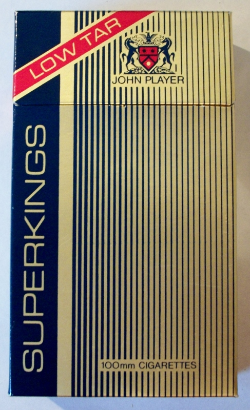 John Player Superkings Low Tar - vintage British Cigarette Pack