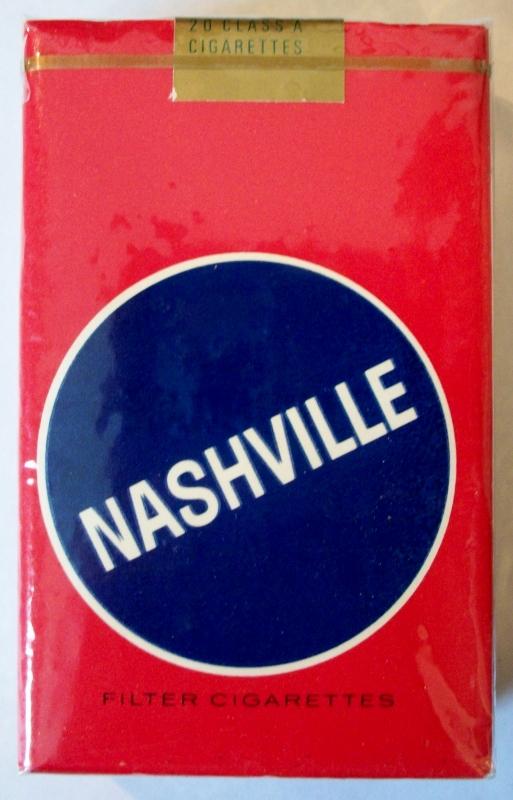 Nashville Filter, King Size - vintage American Cigarette Pack