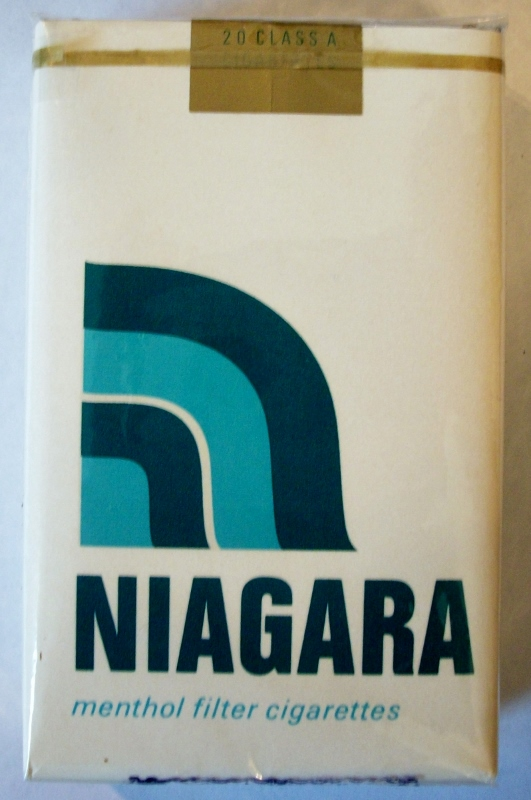 Niagara Menthol Filter, King Size - vintage American Cigarette Pack