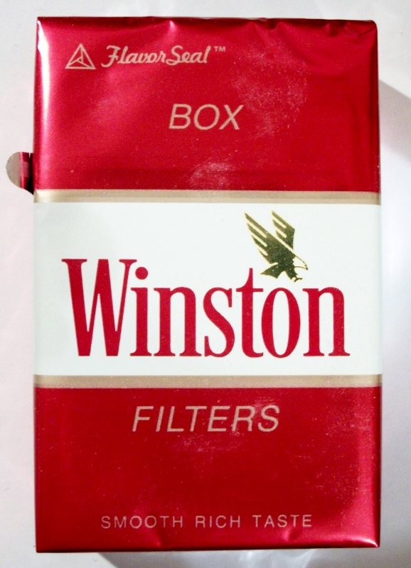 Winston Filters Box, FlavorSeal - vintage American Cigarette Pack