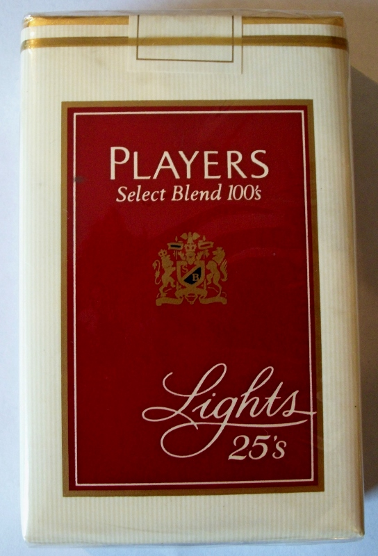 Players Select Blend 100's Lights, 25-pack - vintage American Cigarette Pack