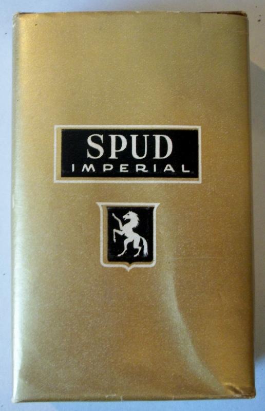 Spud Imperial Cork Tips WWII (1942) - vintage American Cigarette Pack