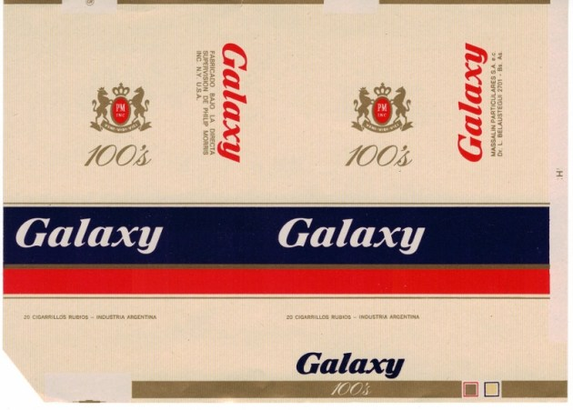 Galaxy 100's - vintage Argentinian Cigarette Pack