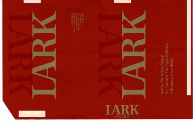 Lark Filter - vintage American Cigarette Pack
