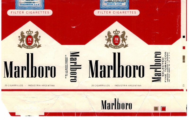 Marlboro Filter king size – vintage Argentinian Cigarette ...