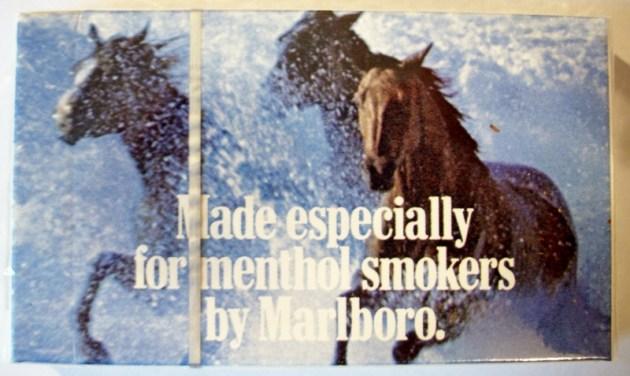 Marlboro Menthol Lights complimentary pack - vintage American Cigarette Pack