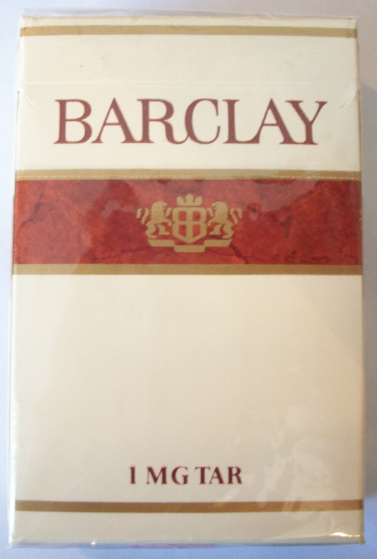 Barclay king size box - vintage American Cigarette Pack