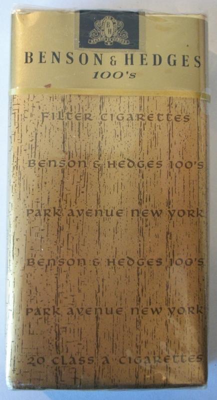 Benson & Hedges 100's Filter Park Avenue - vintage American Cigarette Pack