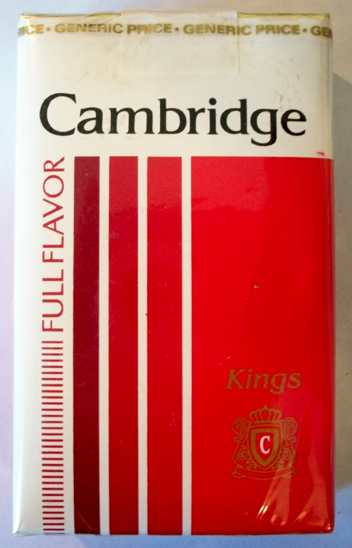 Cambridge Full Flavor kings - vintage American Cigarette Pack