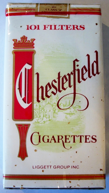 Chesterfield 101 Filters with coupon - vintage American Cigarette Pack