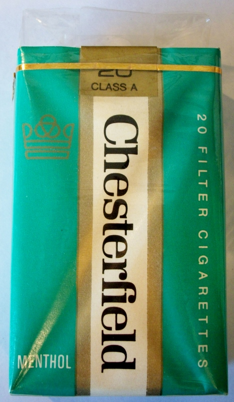 Chesterfield Menthol Filter king size - vintage American Cigarette Pack