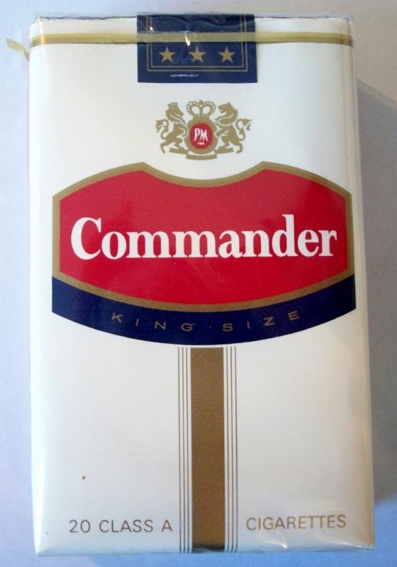 Commander king size - vintage American Cigarette Pack