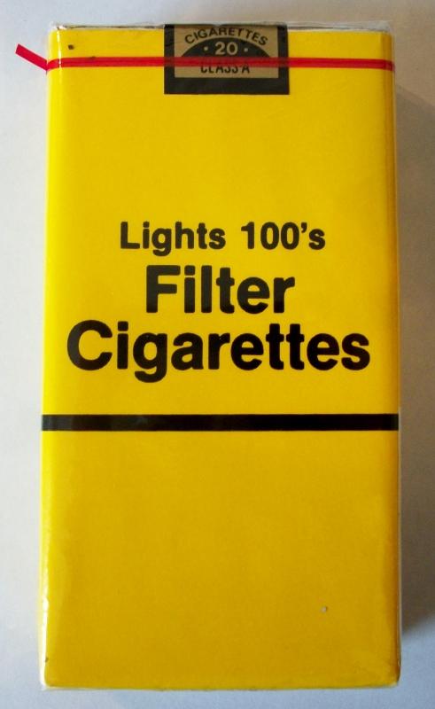 Filter Lights 100's - vintage American Cigarette Pack