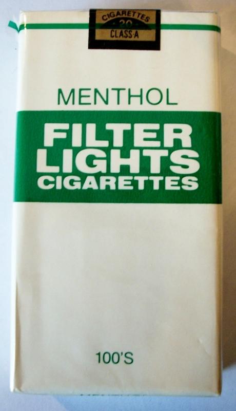 Menthol Filter Lights 100's - vintage American Cigarette Pack
