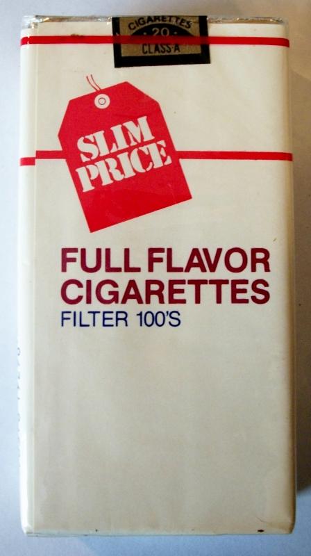 Slim Price Full Flavor Filter 100's - vintage American Cigarette Pack