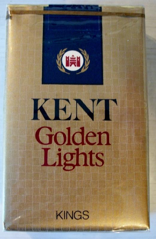 Kent Golden Lights kings - vintage American Cigarette Pack