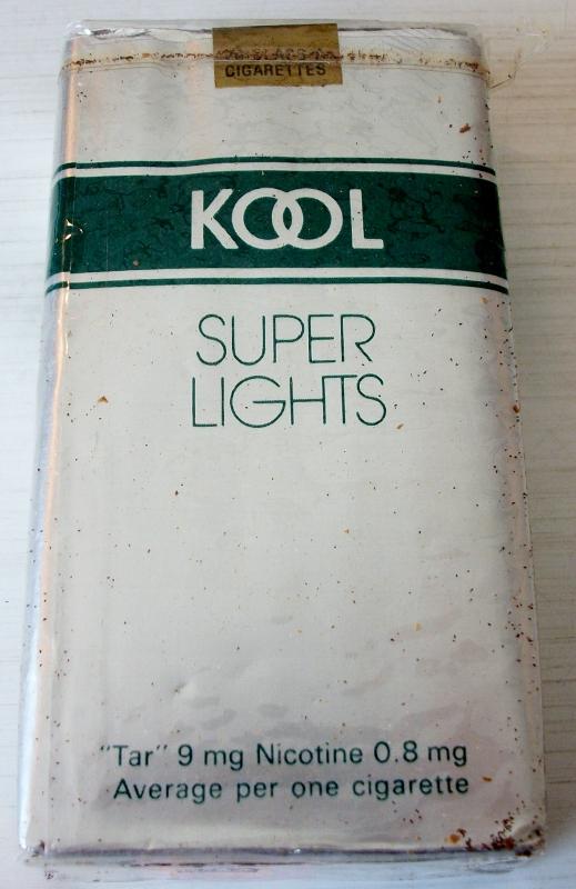 Kool Super Lights Longs - vintage American Cigarette Pack
