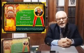 Don Mhammad Benaboud recibe la medlla de Oro CIHAR 2019